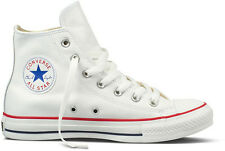 CONVERSE CHUCK TAYLOR ALL STAR HI 132169C WHITE LEATHER HIGH TOP UNISEX