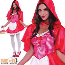 Red Riding Hood Ladies Fancy Dress Storybook Fairytale Womens Costume Outfit New