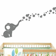 Elephant Bubbles Baby Wall Decal Vinyl Wall Nursery Room Decor EB2
