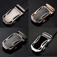 Mens Fashion Business Vehicle Genuine Leather Belt Automatic Buckle Belt