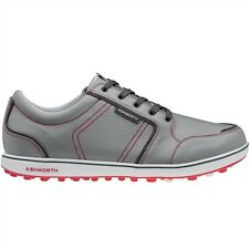 NEWMEN'S ASHWORTH CARDIFF ADC GOLF SHOES GREY/RED G54297 - PICK YOUR SIZE
