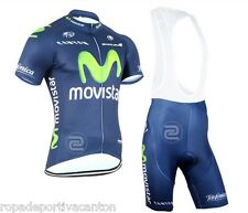 ROPA CICLISMO 2015 MOVISTAR VERANO CORTA MAILLOT CULLOTE CYCLING CLOTH