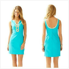$188 Lilly Pulitzer 2015 Janice Shift Dress in Sea Blue  Size  2 4 6