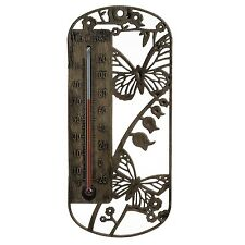 Indoor/Outdoor Thermometer Silhouette Animal Designs NEW BIRD BUTTERFLY