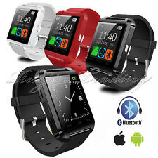 BLUETOOTH U8 SMART WATCH PEDOMETER PHONE BLACK for IOS Android Samsung Iphone