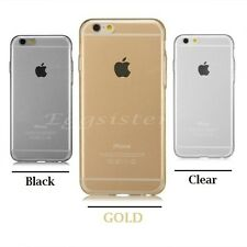 Ultra Thin TPU Clear Soft Case Cover For iPhone  + Free Screen Protector !