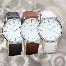 Luxury Brand Geneva Women dress Watches Leather Band Analog Quartz Wrist Watch