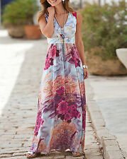 RRP £65 Together Stunning PINK Cherry Blossom Print Maxi Empire Line Dress