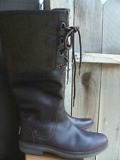 UGG ELSA STOUT / OLIVE Brown TALL WATERPROOF LEATHER Rain DUCK BOOTS Uggs