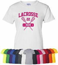 "Personalized ""Lacrosse Mom"" Ladies Tee or T-Shirt Sz S-4XL custom sports mother"