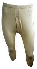 British Made Mens Vintage Traditional Underwear Elastic Waist Long Johns Pants