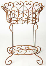 "29"" Wrought Iron Helen Heart Plant Stand"