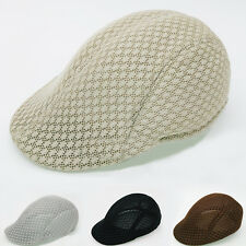 New Mesh Breathable Cool Cabbie Newsboy Gatsby Hat Unisex Beret Cap Ivy Hat USA