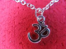 OM Necklace or Earrings (your choice of chain-Link/dog tag/velvet/leather)