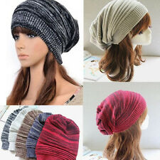 New Unisex Women Men Knit Baggy Beanie Hats Winter Warm Oversized Ski Cap Hat