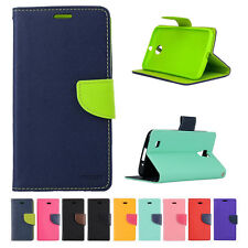 New Wallet KickStand PU Leather Dual Color Pouch Cover For SAMSUNG GALAXY Phones