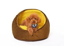 New Luxury Washable Dog Cat Litter Pet Dog Cat Bed House Tent Half Covered Bed