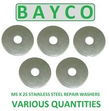M5 X 25MM  STAINLESS STEEL REPAIR WASHER A2 GRADE 304, PENNY MUDGUARD WASHER