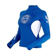 Scubapro T-Flex Long Sleeve Lady Swim/Snorkel Rashguard - Blue