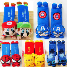 1Pair  Disney Cartoon Spider Man Car Seat Safety Belt Cover Shoulder Cushion Pad