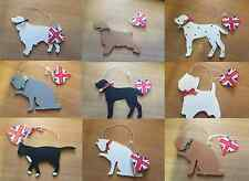 SHABBY CHIC HANDMADE DOG CAT PAINTED WOODEN HANGER NEW