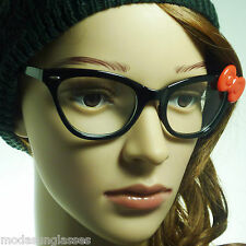 60s Hello Kitty Cat Style Retro Vintage Sexy Women Frame Clear Lens Eye Glasses