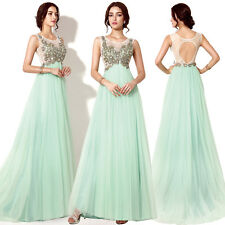 New Backless Plus Size Long Prom Dresses Formal Party Evening Pageant Ball Gowns