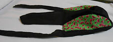 Margie's Doo-rags  Black with Green Watermelon Sides