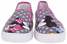 Disney Womens Kissing Mickey and Minnie Mouse Canvas Slip On