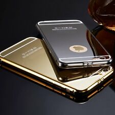 For iPhone 6 Plus 5 5S Fashion Luxury Aluminum  Mirror Metal Case Cover