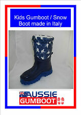 Childrens Gumboots / Snow Boots Warm Fleecy Made in Italy Wellies Toddles - Kids