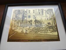 COURTYARD VENICE Tin Metal ART FRAMED French Country Cottage Shabby Paris Chic