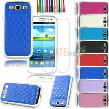 Soft Lambskin PU Leather Chrome Snap-on Case For Samsung Galaxy S3 i9300 + Gifts