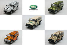 RMZ CITY DIECAST 1:35 LAND ROVER Defender Car Zebra / Tiger / Army Vesion Model