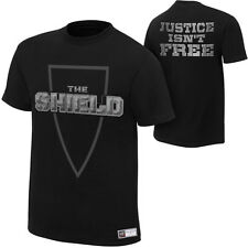 WWE THE SHIELD JUSTICE ISN'T FREE OFFICIAL T-SHIRT ALL SIZES NEW DEAN AMBROSE