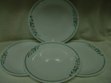 "VINTAGE CORELLE 4 DINNER PLATES ""ROSEMARIE"" 10 1/4"" FREE SHIPPING"