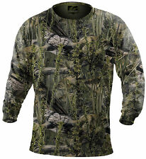 Fishouflage Performance 100% Polyester Bass Fishing Camo L/S T Shirt - NEW!