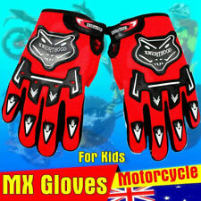 RED Kids ATV Quads Motocross Motorcycle Off-Road MX BMX Dirt Pit Bike Gloves For