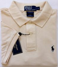 NEW Authentic Men's Ralph Lauren Polo Mesh Shirt Beige CUSTOM FIT Size S,M,L,XL