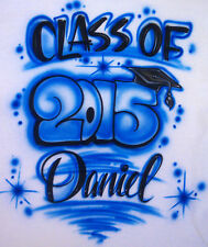Airbrushed Personalized T-Shirt Class of 15 16 17 18 ...Sizes 2T - 3XL