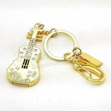 8GB 16GB 32GB Pen Drive Guitar Instrument Violin Keyring Crystal USB Flash drive