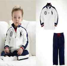 100% cotton 2PC baby boys Sport zipper outerwear +pants kid boys Clothing sets
