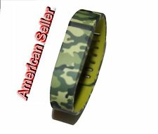 Green Camouflage Army Color Wrist Bands For Fitbit Flex Bracelet /No Tracker/