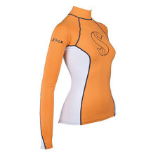 Scubapro T-Flex Long Sleeve Lady Swim/Snorkel Rashguard - Orange/White