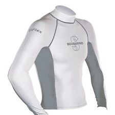 Scubapro T-Flex Long Sleeve Men Swim/Snorkel Rashguard - White/Grey
