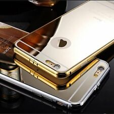 2015 Hot Aluminum Ultra-thin Mirror Metal Case Cover For iPhone 6/6 Plus/5/5s QU