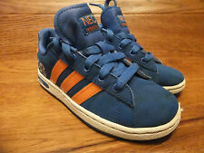 Adidas Neo Derby Kids Blue Trainers  Casual Shoes Size 13k / 31.5