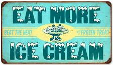 Vintage Retro Eat Ice Cream Metal Sign Cafe Shop Diner Restaurant Wall Decor RPC