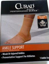 Curad Performance Series Elastic Pull-Over Open Heel Ankle Support Brace Small