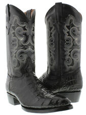 Mens Exotic Black Crocodile Alligator Belly Leather Western Cowboy Boots J Toe